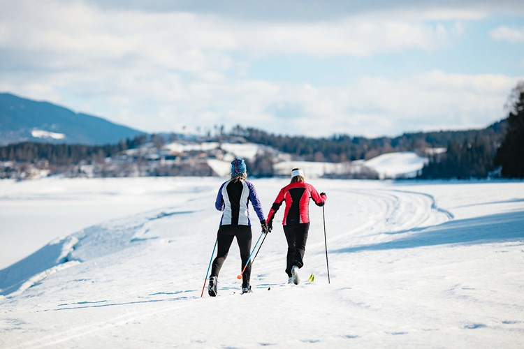 Cross-country skiing nearby Fagernes camping.